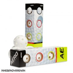innebandybollar salming floorball aero 4-pack white (bild)