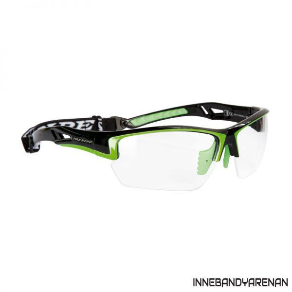 innebandyglasögon fatpipe protective eyewear jr black/lime (bild)