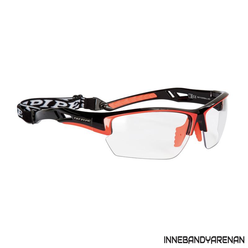 innebandyglasögon fatpipe protective eyewear jr black/orange (bild)