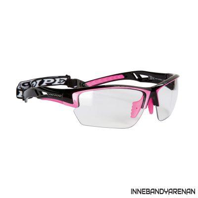 innebandyglasögon fatpipe protective eyewear jr black/pink (bild)