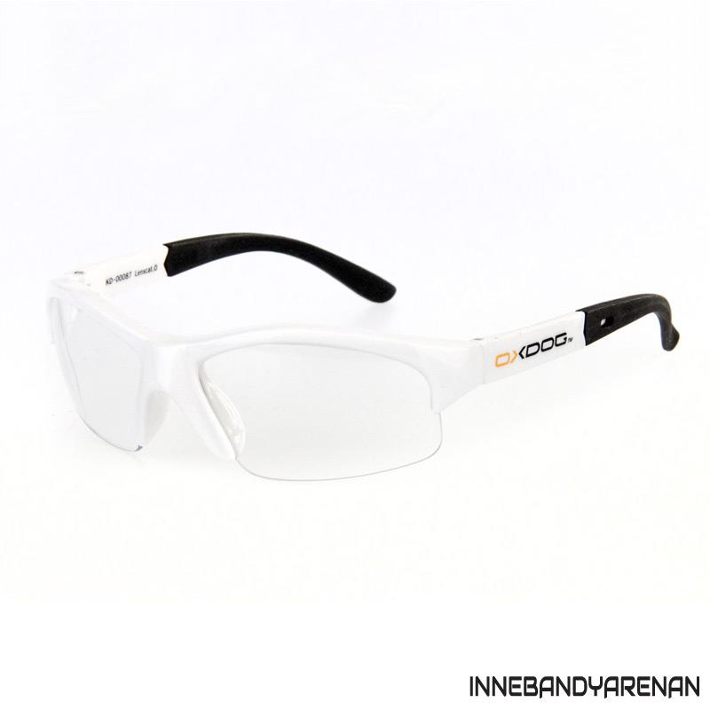 innebandyglasögon oxdog top eyewear jr white (bild)