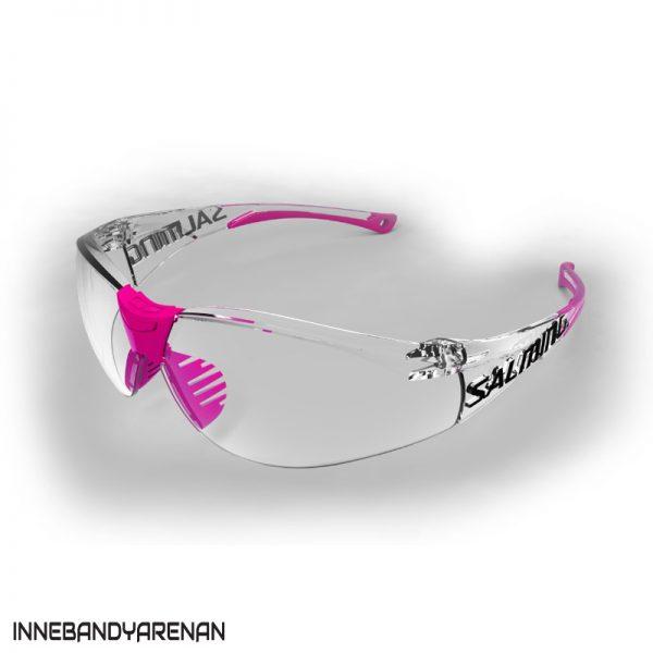 innebandyglasögon salming split vision jr transparent/pink (bild)