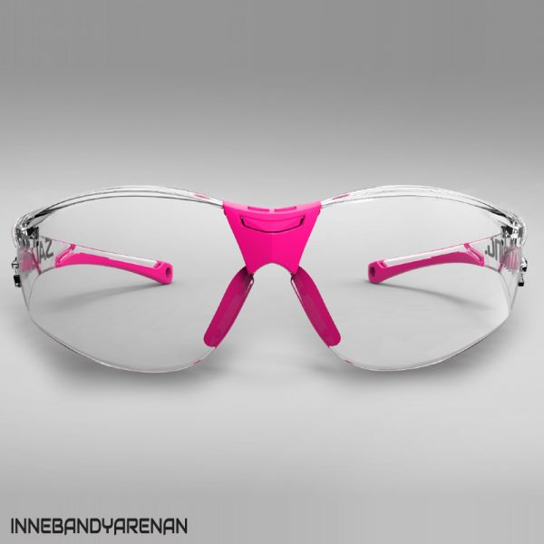 innebandyglasögon salming split vision jr transparent/pink (bild 2)
