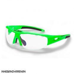 innebandyglasögon salming v1 protective eyewear jr gecko green (bild)