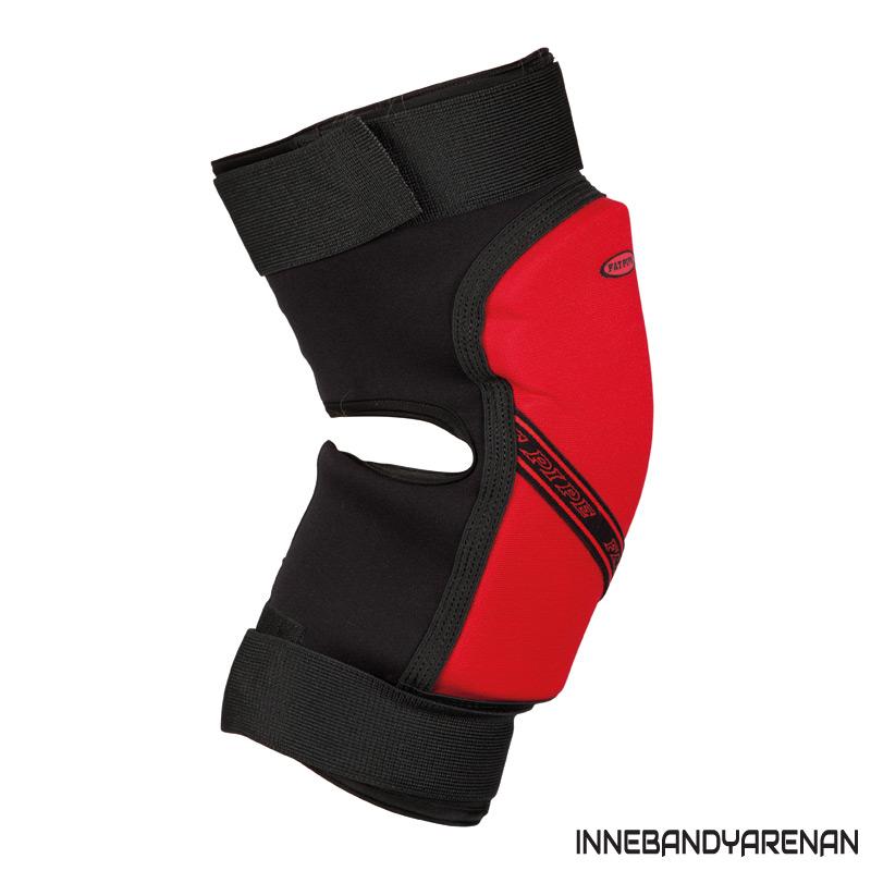 knäskydd fatpipe gk knee pads short black/red (bild)