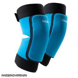 knäskydd salming core knee pads cyan blue (bild)