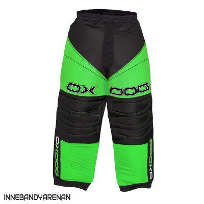 målvaktsbyxor oxdog vapor goalie pants black/green (bild)