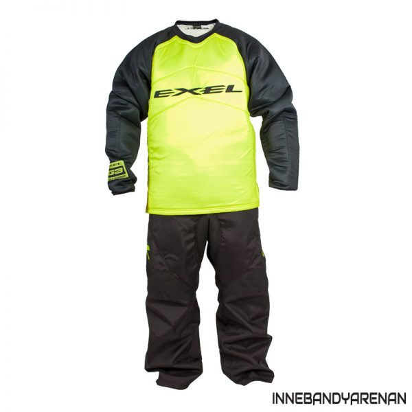 målvaktsdräkt exel g3 goalie protection set jersey pants black/yellow (bild)