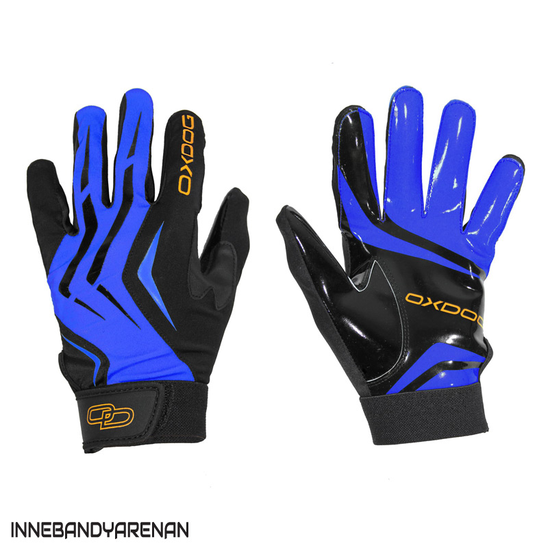 målvaktshandskar oxdog gate goalie gloves blue (bild)