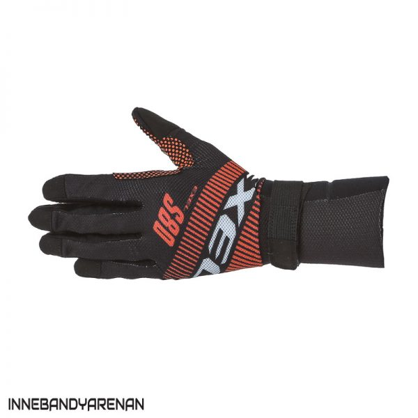 målvaktshandskar exel s80 goalie gloves orange/black jr (bild)