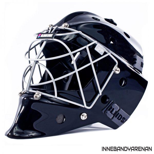 målvaktshjälm blindsave goalie mask black (bild)