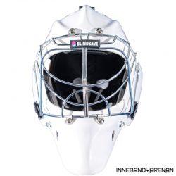 målvaktshjälm blindsave goalie mask white (bild)