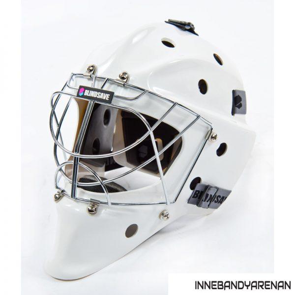 målvaktshjälm blindsave goalie mask white (bild 3)