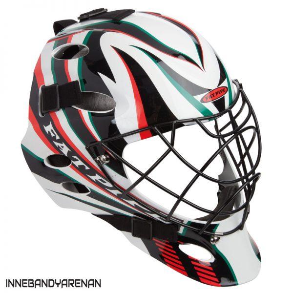 målvaktshjälm fatpipe gk helmet pro green/red (bild)