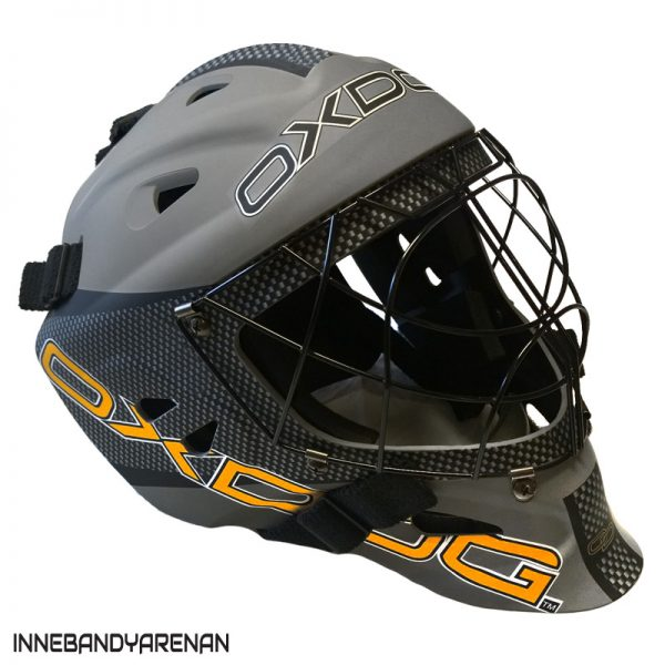 målvaktshjälm oxdog tour goalie helmet sr grey (bild)