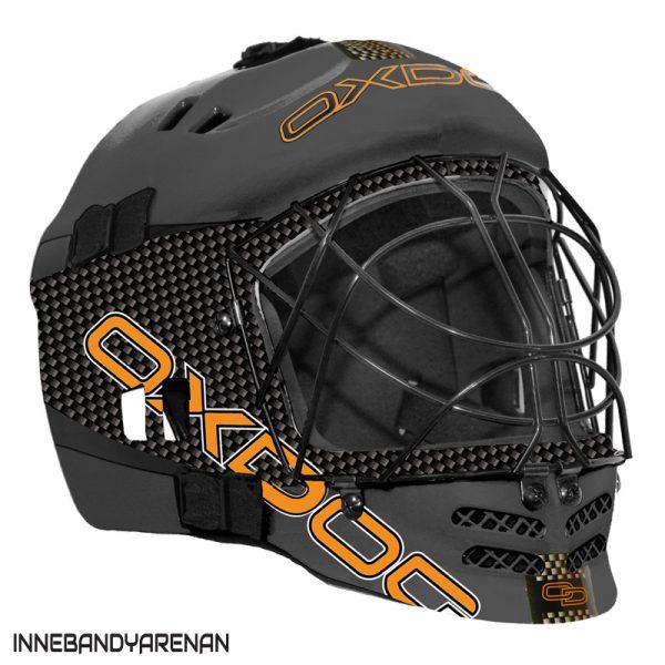 målvaktshjälm oxdog vapor helmet jr grey (bild)