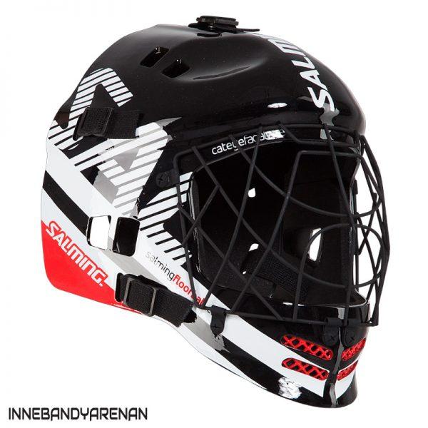 målvaktshjälm salming core helmet jr black/white (bild)