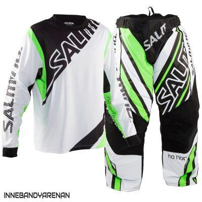 målvaktskläder salming phoenix goalie white/geckogreen (bild)