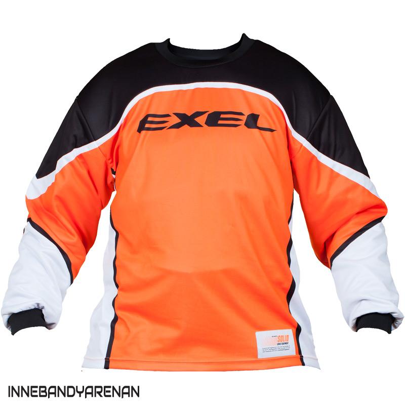målvaktströja exel s100 goalie jersey black/orange (bild)