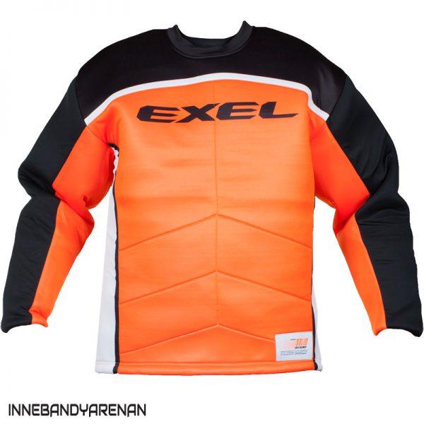 målvaktströja exel s60 goalie jersey black/orange (bild)