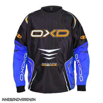 målvaktströja oxdog gate goalie shirt black/blue (bild)