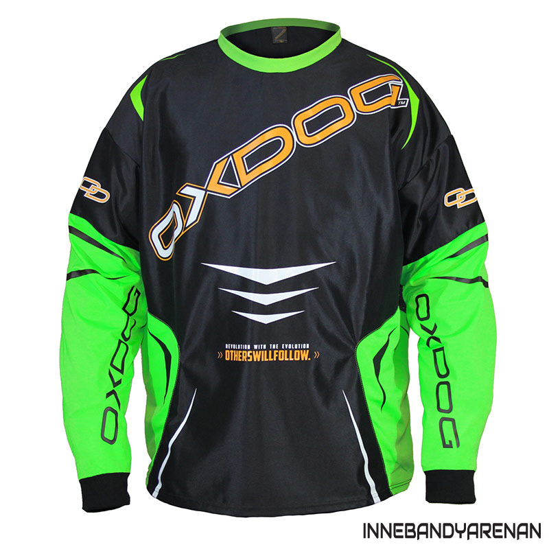 målvaktströja oxdog gate goalie shirt black/green (bild)
