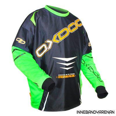 målvaktströja oxdog gate goalie shirt black/green (bild 3)