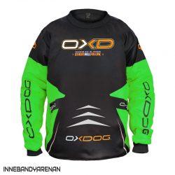 målvaktströja oxdog vapor goalie shirt black/green (bild)