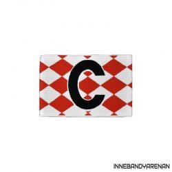 kaptensbindel sportquip röd/vit (bild)