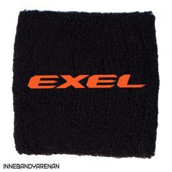 svettband exel wristband black/orange (bild)