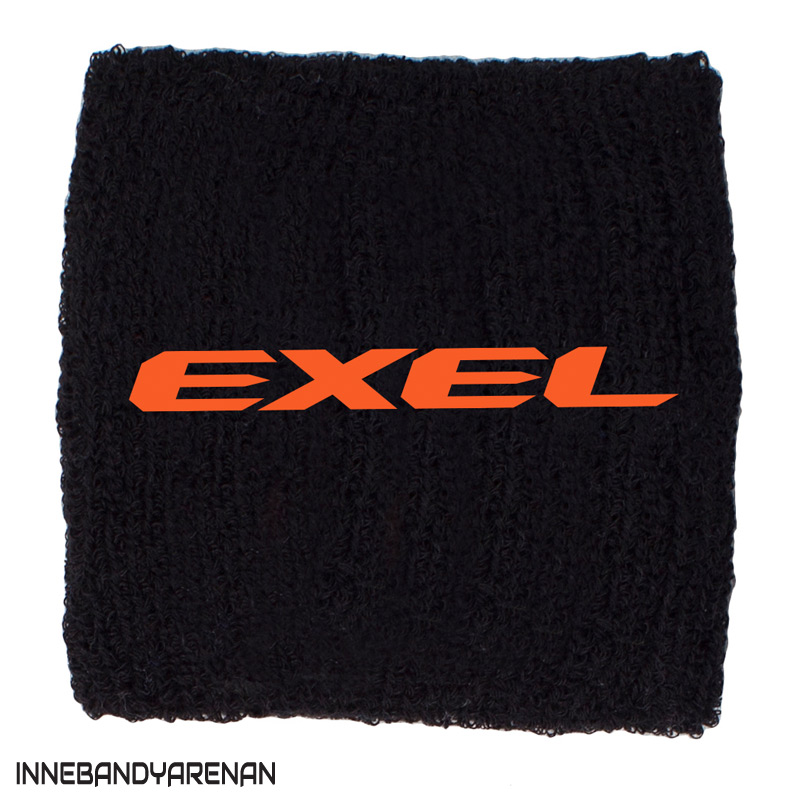 svettband exel wristband black/orange (bild)