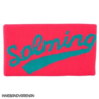 svettband salming wristband long diva pink/turquoise (bild)