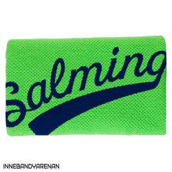 svettband salming wristband long gecko green/navy (bild)