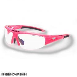 innebandyglasögon salming v1 protective eyewear jr knockout pink (bild)