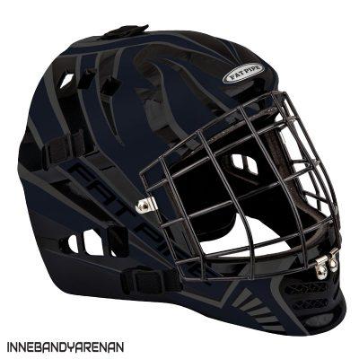 målvaktshjälm fatpipe gk-helmet pro jr black (bild)