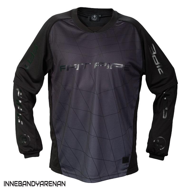 målvaktströja fatpipe gk shirt all black (bild)