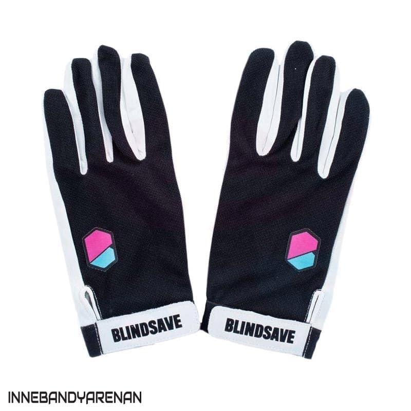 målvaktshandskar blindsave goalie gloves black (bild)
