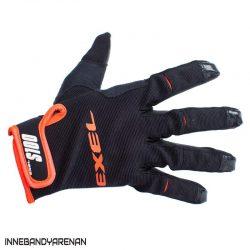 målvaktshandskar exel s100 goalie gloves short black/orange (bild)