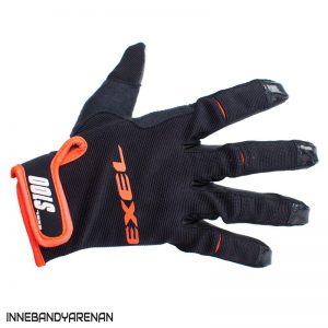 målvaktshandskar exel s100 goalie gloves short black/orange (bild)