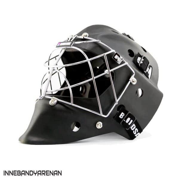 målvaktshjälm blindsave goalie mask black matt (bild)