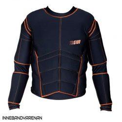 skyddströja exel protective shirt black/orange (bild)