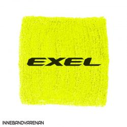 svettband exel wristband yellow/black (bild)