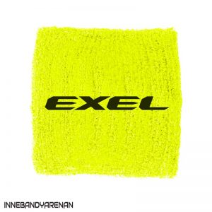 svettband exel wristband yellow/black (bild)