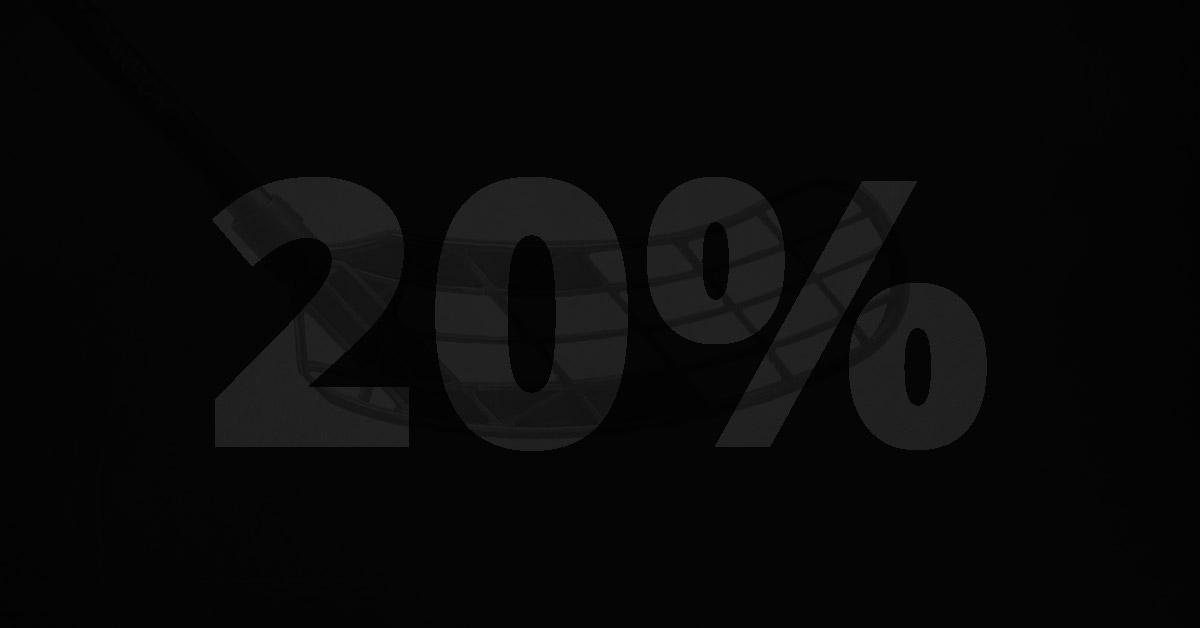 20% rabatt