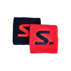 Svettband Salming Wristband Short 2-pack Coral/Navy