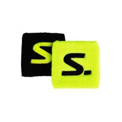 Svettband Salming Wristband Short 2-pack Yellow/Black