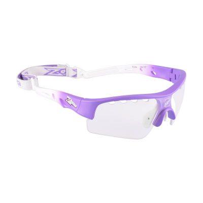 Innebandyglasögon Zone Eyewear Matrix Sport Glasses Kids Purple/White