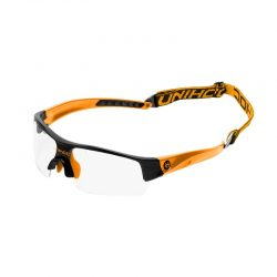 Innebandyglasögon Unihoc Eyewear Victory JR Black/Neon Orange