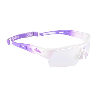 Innebandyglasögon Zone Eyewear Matrix Sport Glasses Junior White/Purple