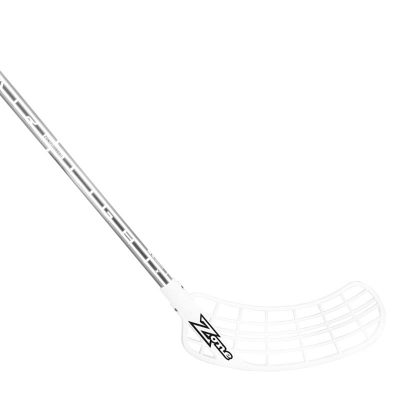 Innebandyklubba Zone Stick Supreme Airlight 25 White/Silver Chrome